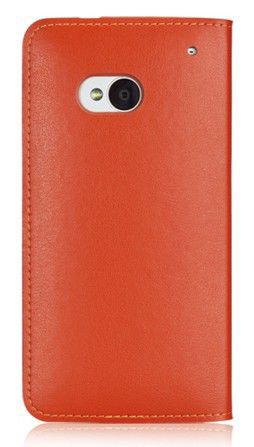 Чехол (флип-кейс) GGMM Kiss-H1, для HTC One, оранжевый [htc02504]