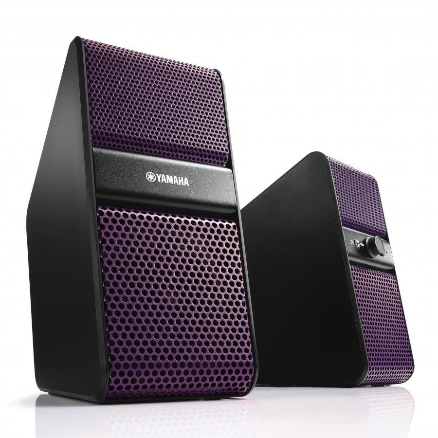 Колонки YAMAHA NX-50,  фиолетовый,  черный [anx50pp]