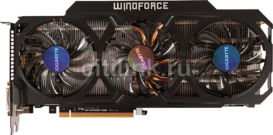 Видеокарта GIGABYTE nVidia  GeForce GTX 770 ,  GV-N770OC-2GD,  2Гб, GDDR5, OC,  Ret