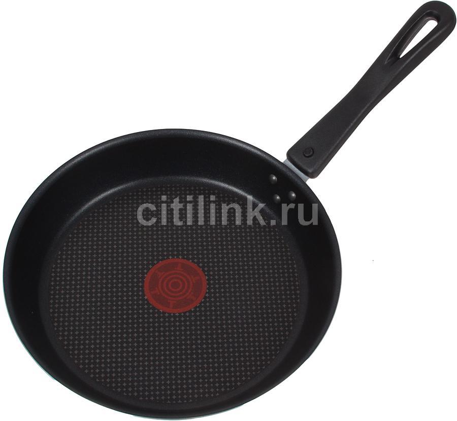 Сковорода TEFAL Cooklight 04041222, 220см, съемная ручка,  без крышки,  красный