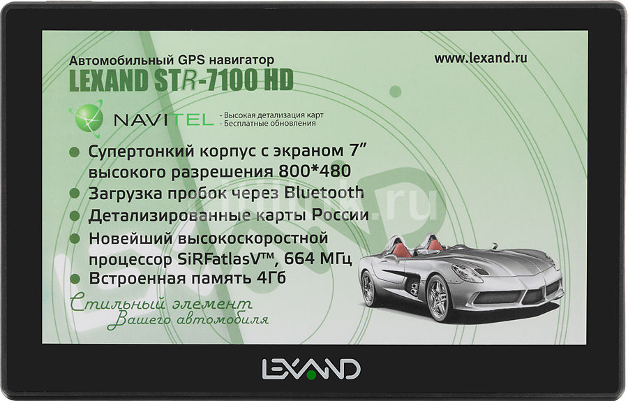 GPS навигатор LEXAND STR-7100 HD,  7