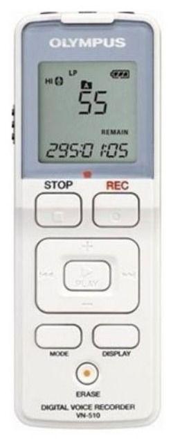 Диктофон OLYMPUS VN-510 1Гб,  белый [2284521]