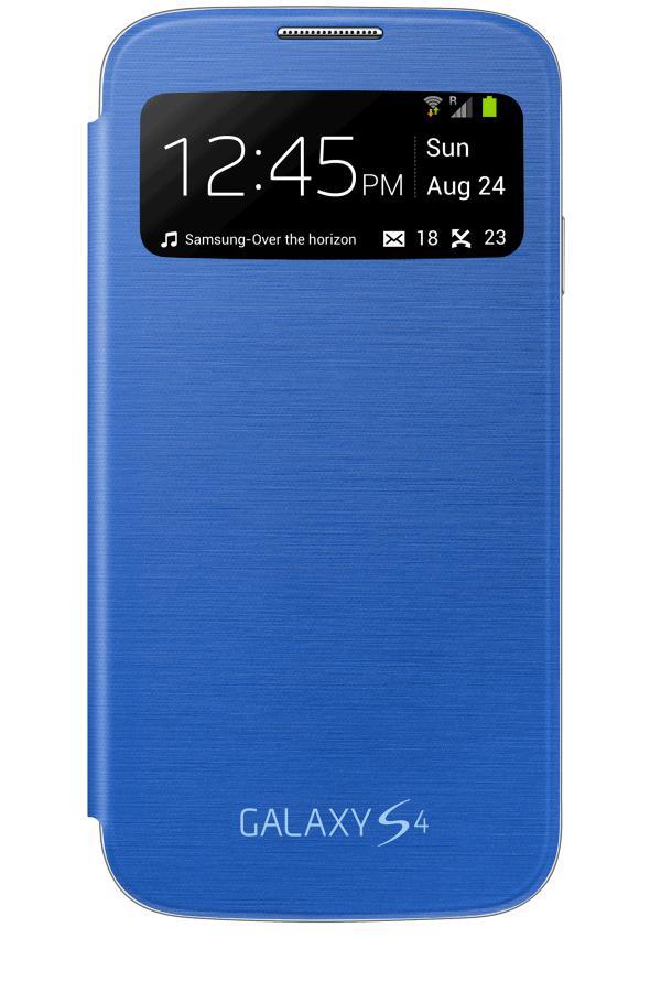 Чехол (флип-кейс) SAMSUNG S-View, EF-CI950BCE, для Samsung Galaxy S4, голубой [ef-ci950bcegru]