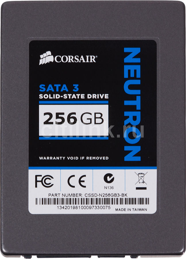 SSD накопитель CORSAIR Neutron CSSD-N256GB3-BK 256Гб, 2.5