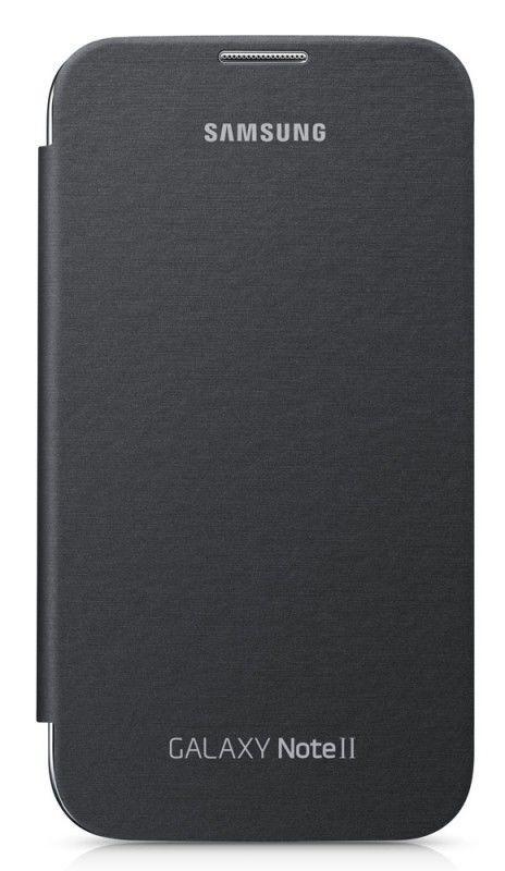 Чехол (флип-кейс) SAMSUNG EFC-1J9FSE, для Samsung Note II, серебристый [efc-1j9fsegser]