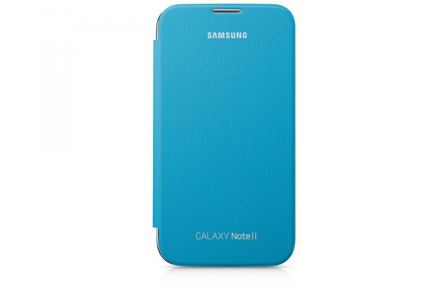 Чехол (флип-кейс) SAMSUNG EFC-1J9FBE, для Samsung Note II, синий [efc-1j9fbegser]