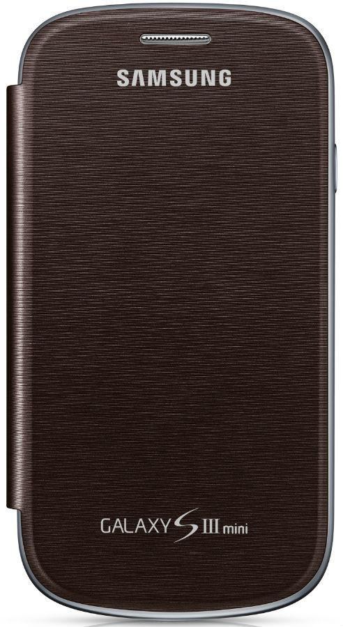 Чехол (клип-кейс) SAMSUNG EFC-1M7FAE, для Samsung Galaxy S III mini, коричневый [efc-1m7faegser]