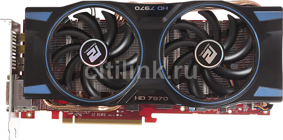 Видеокарта POWERCOLOR Radeon HD 7970,  AX7970 3GBD5-2DHE/OC,  3Гб, GDDR5, OC,  Ret