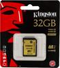 Карта памяти SDHC UHS-I KINGSTON 32 ГБ, 90 МБ/с, Class 10, SDA10/32GB,  1 шт. вид 1
