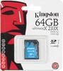 Карта памяти SDXC UHS-I KINGSTON 64 ГБ, 60 МБ/с, Class 10, SDA10/64GB,  1 шт. вид 1