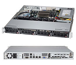 Платформа SuperMicro SYS-5018D-MTF 3.5 SAS/SATA C224 1G 2P 1x350WСерверы<br>Hot Swap HDD<br>