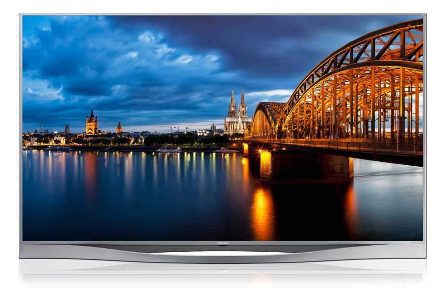 "LED телевизор SAMSUNG UE55F8500AT  ""R"", 55"", 3D,  FULL HD (1080p),  серебристый"