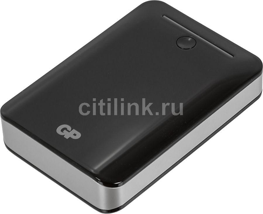 Внешний аккумулятор GP Portable PowerBank GL301BE,  10400мAч,  черный [gp gl301be-2cr1]
