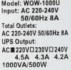 ИБП POWERCOM WOW 1000U,  1000ВA [wow-1000u] вид 7