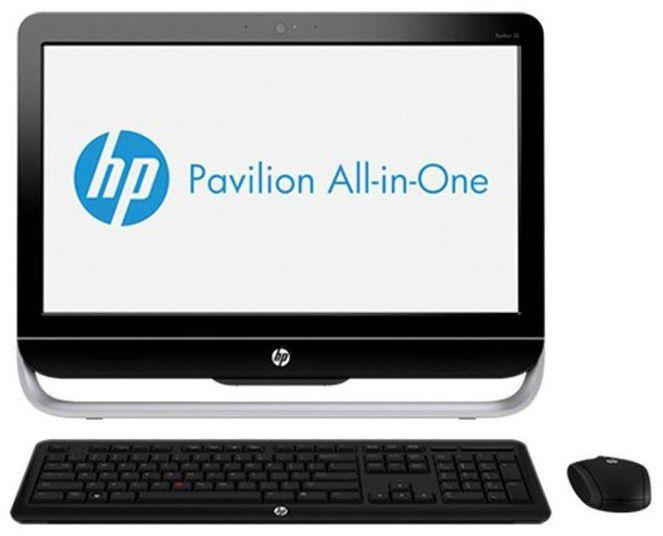 Моноблок HP Pavilion 23-b201er, Intel Core i3 3240, 4Гб, 500Гб, nVIDIA GeForce GT710A - 1024 Мб, DVD-RW, Windows 8, черный и серебристый [e3h55ea]