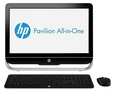 Моноблок HP Pavilion 23-b203er, Intel Core i5 3330S, 8Гб, 2Тб, nVIDIA GeForce GT710A - 1024 Мб, DVD-RW, Windows 8, черный и серебристый [e3h57ea]
