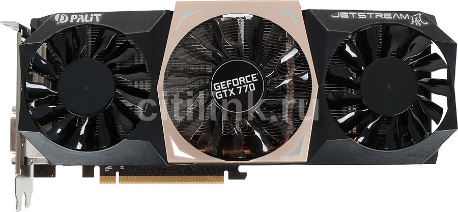 Видеокарта PALIT GeForce GTX 770 JETSTREAM,  NE5X770010G2-104XJ,  4Гб, GDDR5, Ret