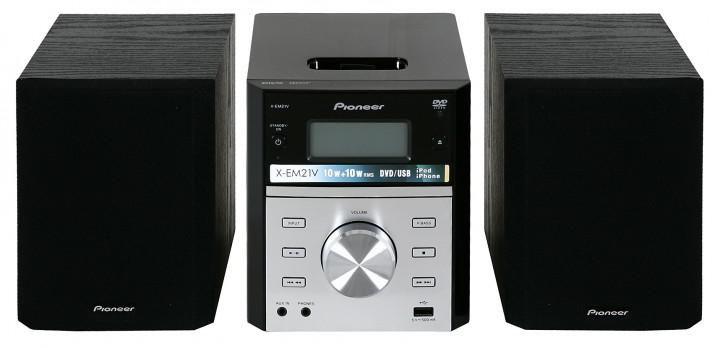 Музыкальный центр PIONEER X-EM21V,  черный