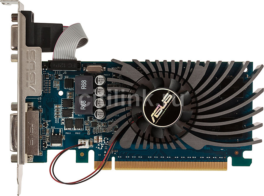 Видеокарта ASUS nVidia  GeForce GT 640 ,  GT640-1GD5-L,  1Гб, DDR5, Low Profile,  Ret