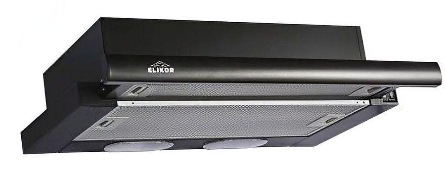 Вытяжка встраиваемая Elikor Интегра 60П-400-В2Л черный управление: кнопочное (1 мотор)