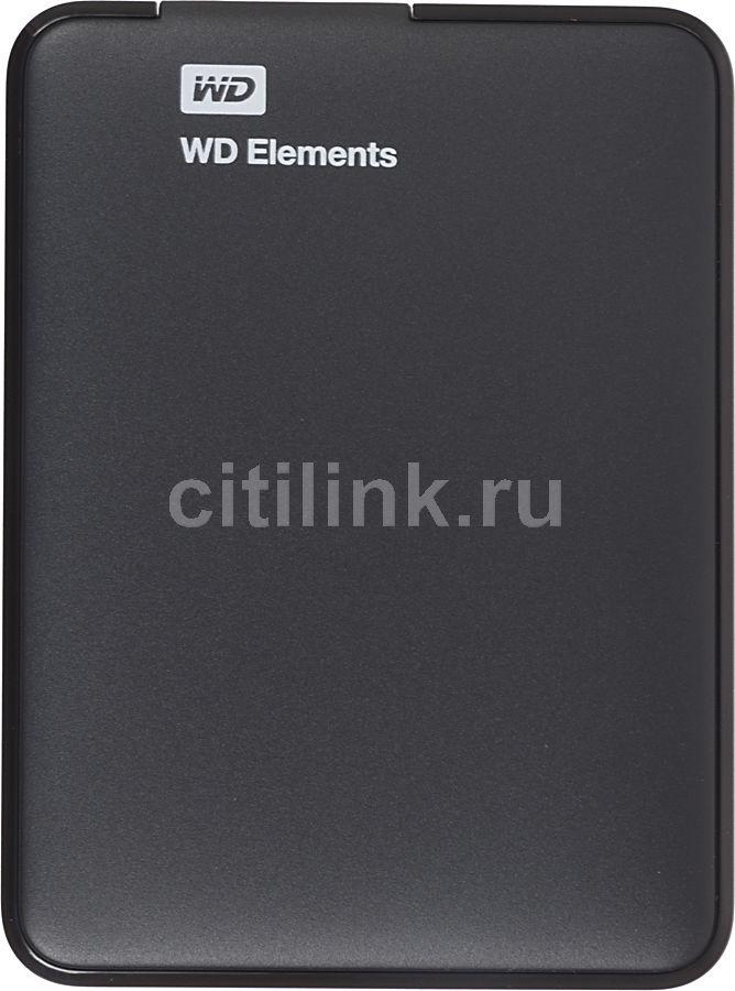 Внешний жесткий диск WD Elements Portable WDBUZG5000ABK-EESN, 500Гб, черный