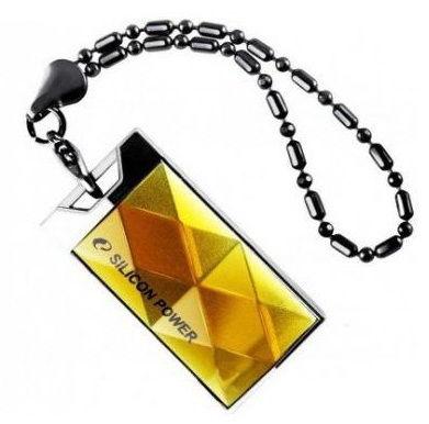 Флешка USB SILICON POWER Touch 850 64Гб, USB2.0, желтый [sp064gbuf2850v1a]