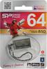 Флешка USB SILICON POWER Touch 850 64Гб, USB2.0, серебристый [sp064gbuf2850v1t] вид 4