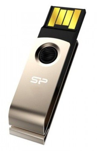 Флешка USB SILICON POWER Touch T825 16Гб, USB2.0, золотистый [sp016gbuf2825v1c]