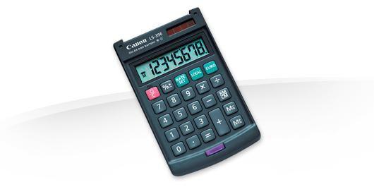 Калькулятор CANON LS-39E,  8-разрядный, темно-серый
