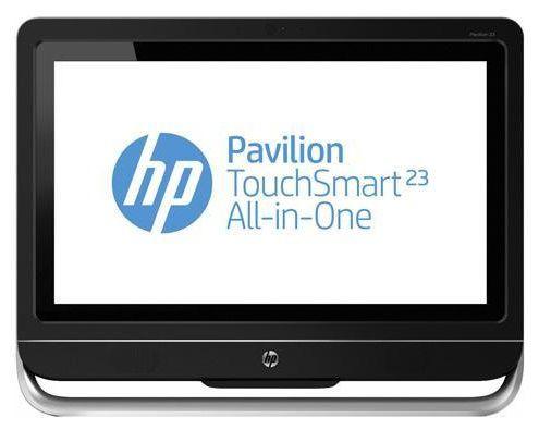Моноблок HP Pavilion 23-f210er, Intel Pentium G2030, 4Гб, 500Гб, nVIDIA GeForce 710A - 1024 Мб, DVD-RW, Windows 8, черный и серебристый [e6q07ea]