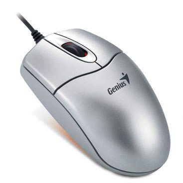 Мышь GENIUS NetScroll 311 оптическая проводная USB, PS/2, серебристый [gm-nscr 311]