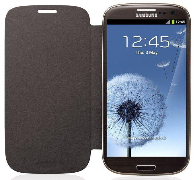 Чехол (флип-кейс) SAMSUNG EFC-1G6FAE, для Samsung Galaxy S III, коричневый [efc-1g6faecser]