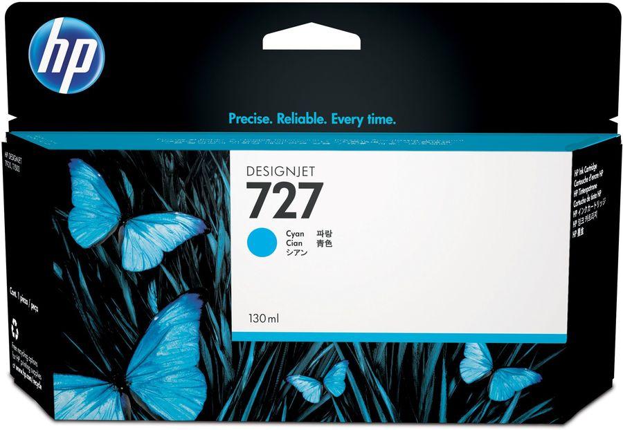 Картридж HP 727, голубой [b3p19a]
