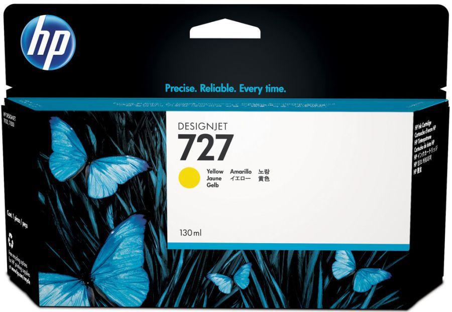 Картридж HP 727 желтый [b3p21a]