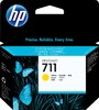 Картридж HP 711, желтый [cz132a] вид 1