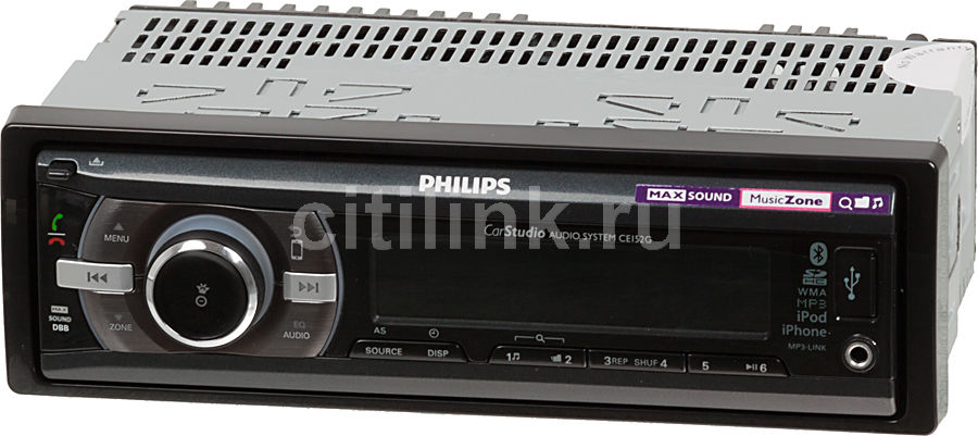 Автомагнитола PHILIPS CE152G/51,  USB,  SDHC
