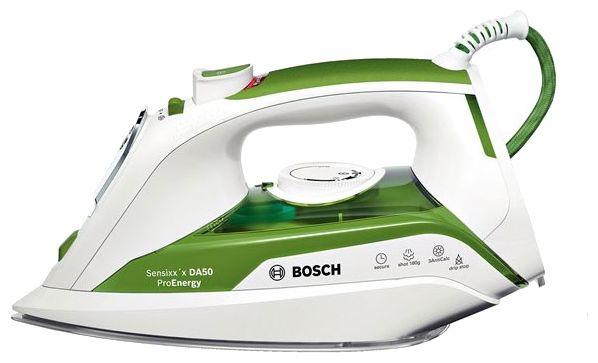 Утюг BOSCH TDA502411E,  2400Вт,  белый/ зеленый