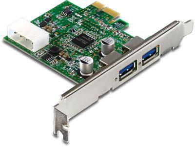 Адаптер TrendNet (TU3-H2PIE) USB 3.0 двухпортовый хост-адаптер PCI Express
