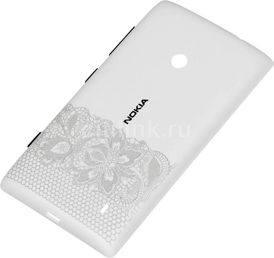 Чехол (клип-кейс) NOKIA CC-3068, для Nokia Lumia 520, белый [cc-3068 белый]