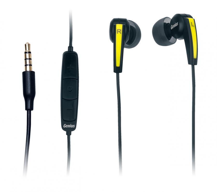 Наушники с микрофоном GENIUS HS-i220,  вкладыши, черный  [31710035101]