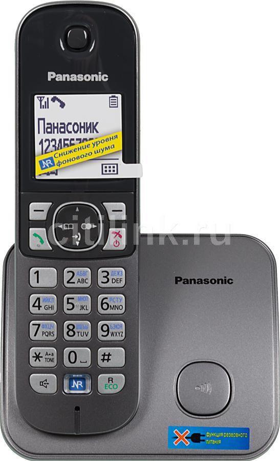 Радиотелефон PANASONIC KX-TG6811RUM,  серый металлик