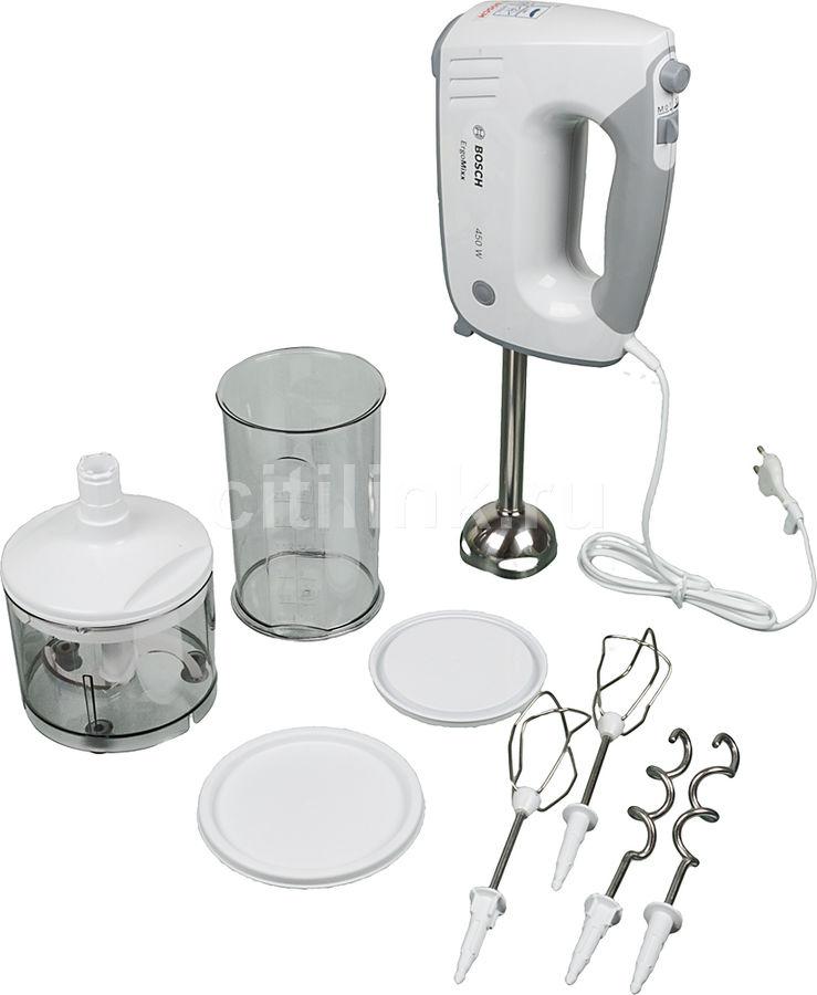 Миксер BOSCH MFQ36480, ручной,  белый и серый