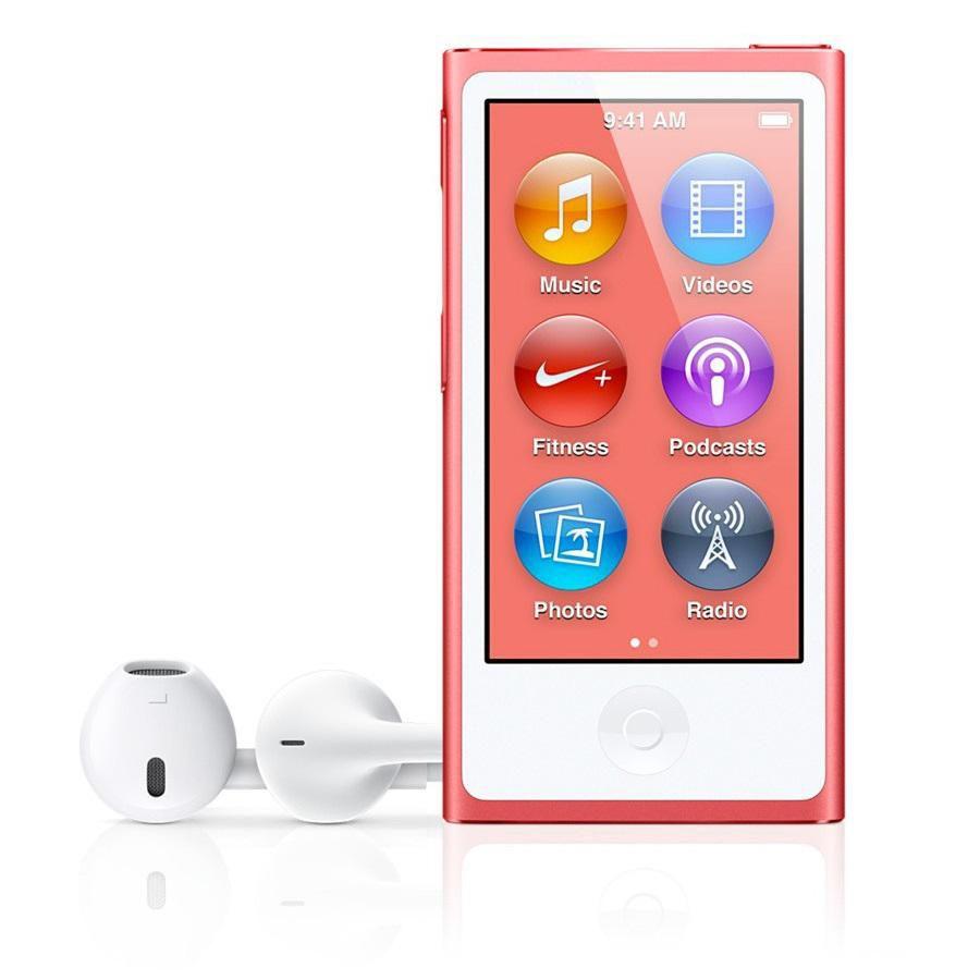MP3 плеер APPLE iPod nano 7 flash 16Гб розовый [md475ru/a]