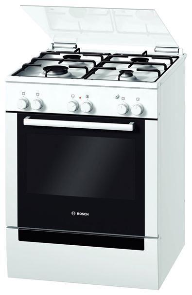 Газовая плита BOSCH HGV423224R,  электрическая духовка,  белый
