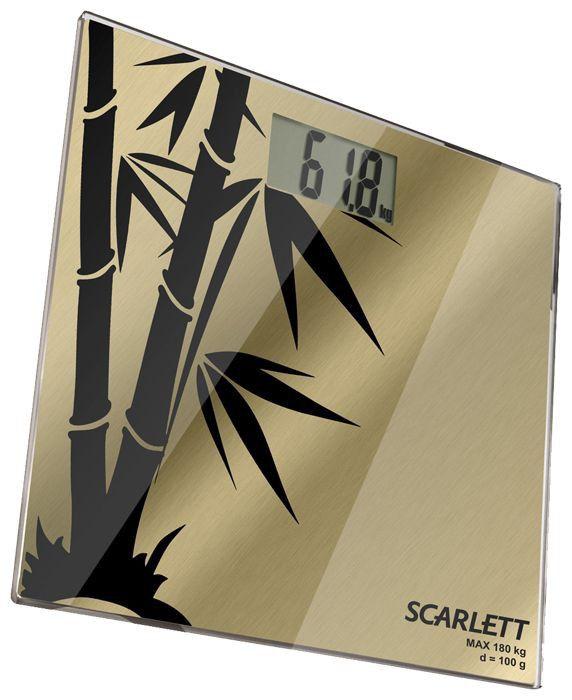 Весы SCARLETT SC218, до 180кг, цвет: рисунок