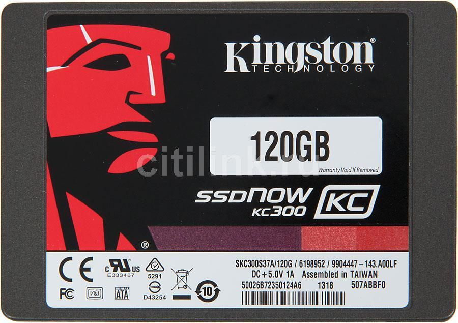 Накопитель SSD KINGSTON Now KC300 SKC300S3B7A/120G 120Гб, 2.5