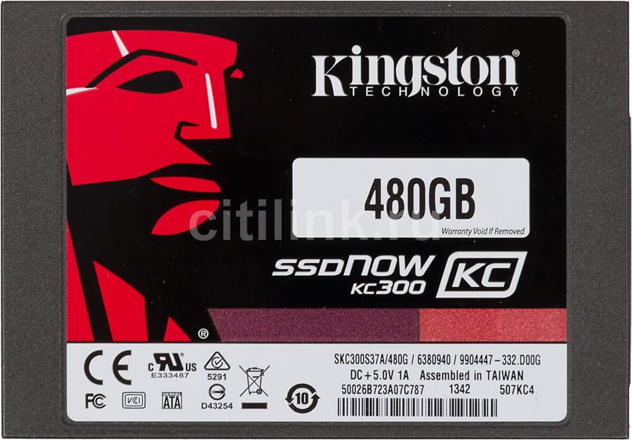 Накопитель SSD KINGSTON Now KC300 SKC300S3B7A/480G 480Гб, 2.5