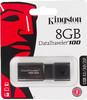 Флешка USB KINGSTON DataTraveler 100G3 8Гб, USB3.0, черный