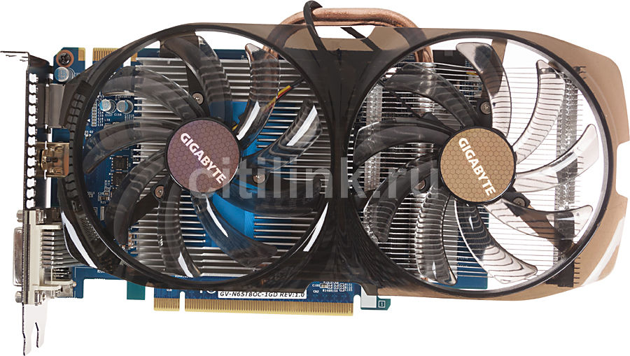 Видеокарта GIGABYTE GeForce GTX 650 Ti Boost,  GV-N65TBOC-1GD,  1Гб, GDDR5, OC,  Ret