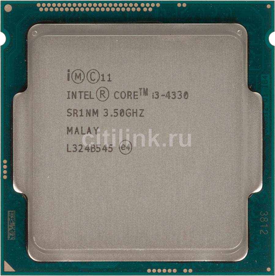 Процессор INTEL Core i3 4330, LGA 1150 * OEM [cm8064601482423s r1nm]